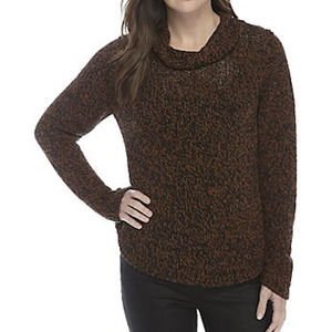 Eileen Fisher Marled Funnel Neck Sweater Small